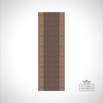 Patterned stair carpet for victorian style staircases - 100% wool in various colours and widths - style KO1137