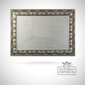 Lilly Mirror with decorative silver frame - 97cm x 71cm