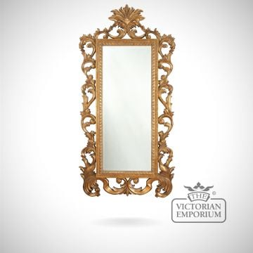 Sorrento Mirror with ornate decorative gold frame - 264x132cm