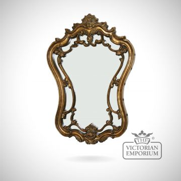 Alquezar mirror in highly decorative gold frame 89x61cm
