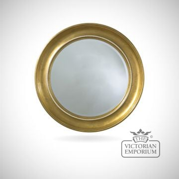 London mirror with decorative gold circular frame - 91cm diameter