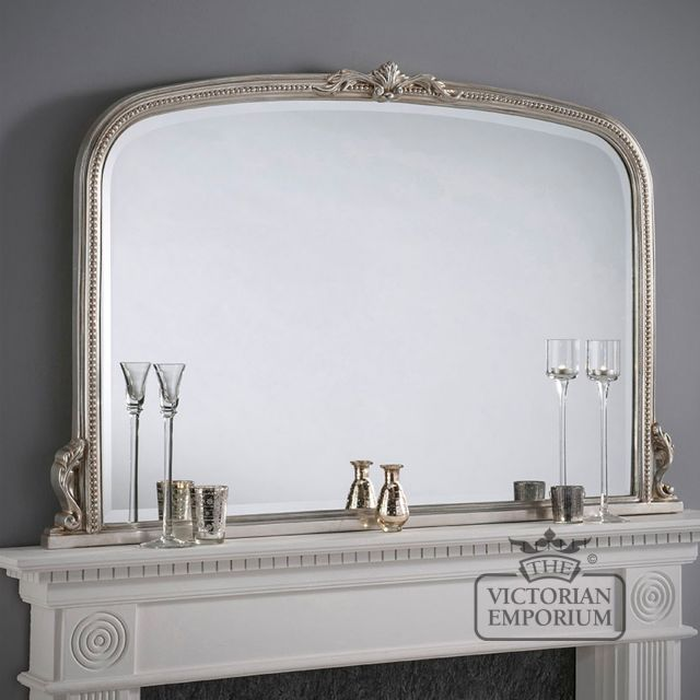 Windsor Mirror with decorative silver frame - 127x91cm