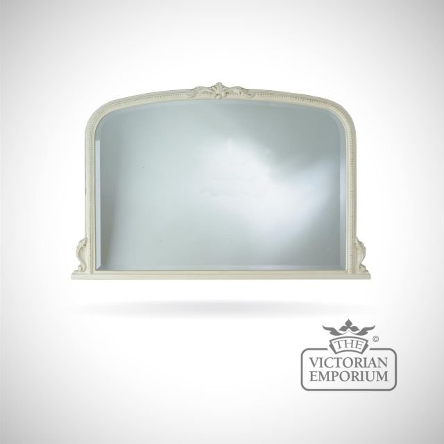 Windsor Mirror with decorative ivory frame - 122x81cm