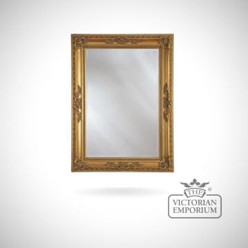 Oxford Mirror with gold frame - 114 x 84cm