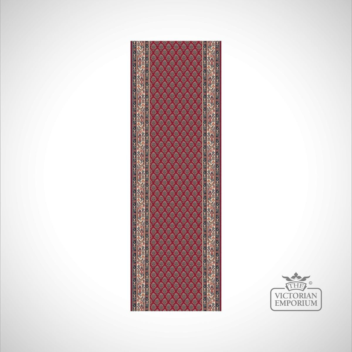 Victorian Stair Runner Carpet Style Ka12248 In Red