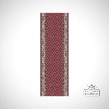 Victorian Stair Carpet Runner - style KA12248 in Red