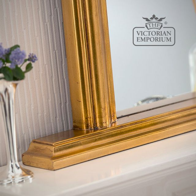 Winchester Overmantel Mirror with gold frame- 119x79cm