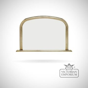 Winchester Overmantel Mirror with silver frame - 119x79cm