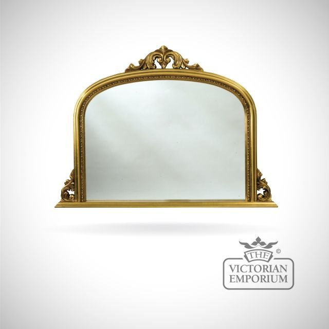 Carlisle Mirror with decorative gold frame - 127x91cm