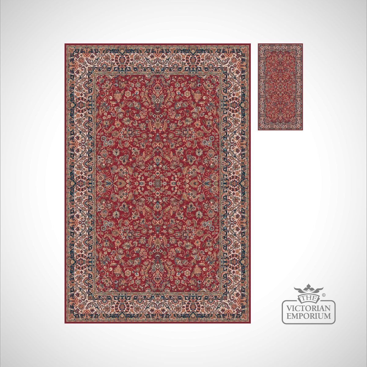 Victorian Rug Style Fa6202 Red Rugs The Victorian