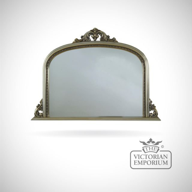 Carlisle Mirror with decorative silver frame - 127x91cm