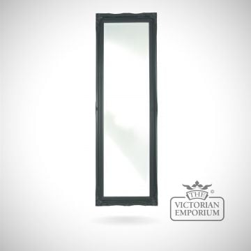 Penarth Mirror 124x41cm with black frame