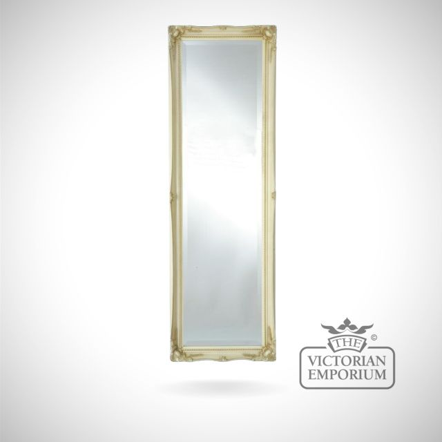 Penarth Mirror with ivory frame - 124x41cm