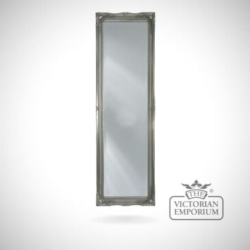 Penarth Mirror with silver frame124x41cm