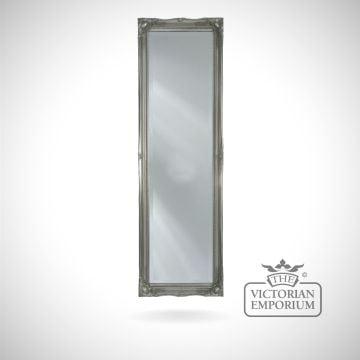 Penarth Mirror with silver frame124x41cm
