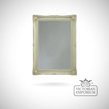 Newport Mirror 91cm x 66cm with ivory frame