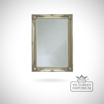 Newport Mirror with silver frame at size 107cm x 76cm