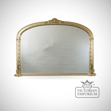 Gold framed Hampton Overmantle Mirror 127cm x 91cm