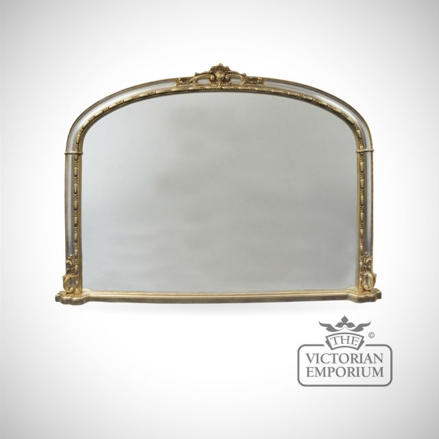 Hampton Overmantle Mirror with Silver frame - 127cm x 91cm