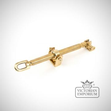 "Polished brass 12"" fanlight screw opener"