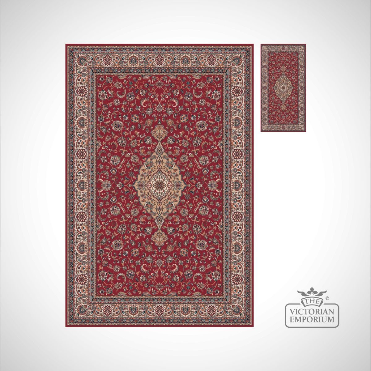 Victorian Rug Style Fa5649 Red Rugs The Victorian