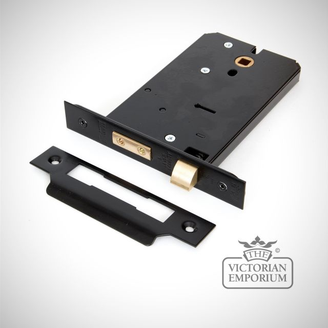 "Black 6"" 5 Lever Horizontal Sash Lock"
