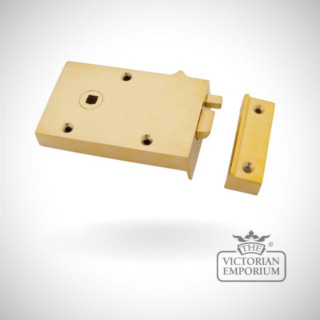 Polished Brass Left Hand Bathroom Latch