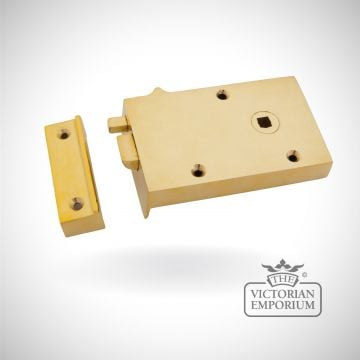 Polished Brass Right Hand Bathroom Latch