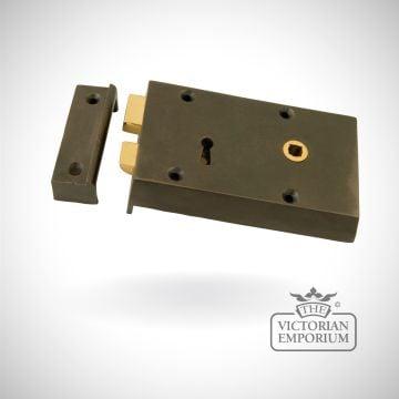 Iron Right Hand Rim Lock - Small