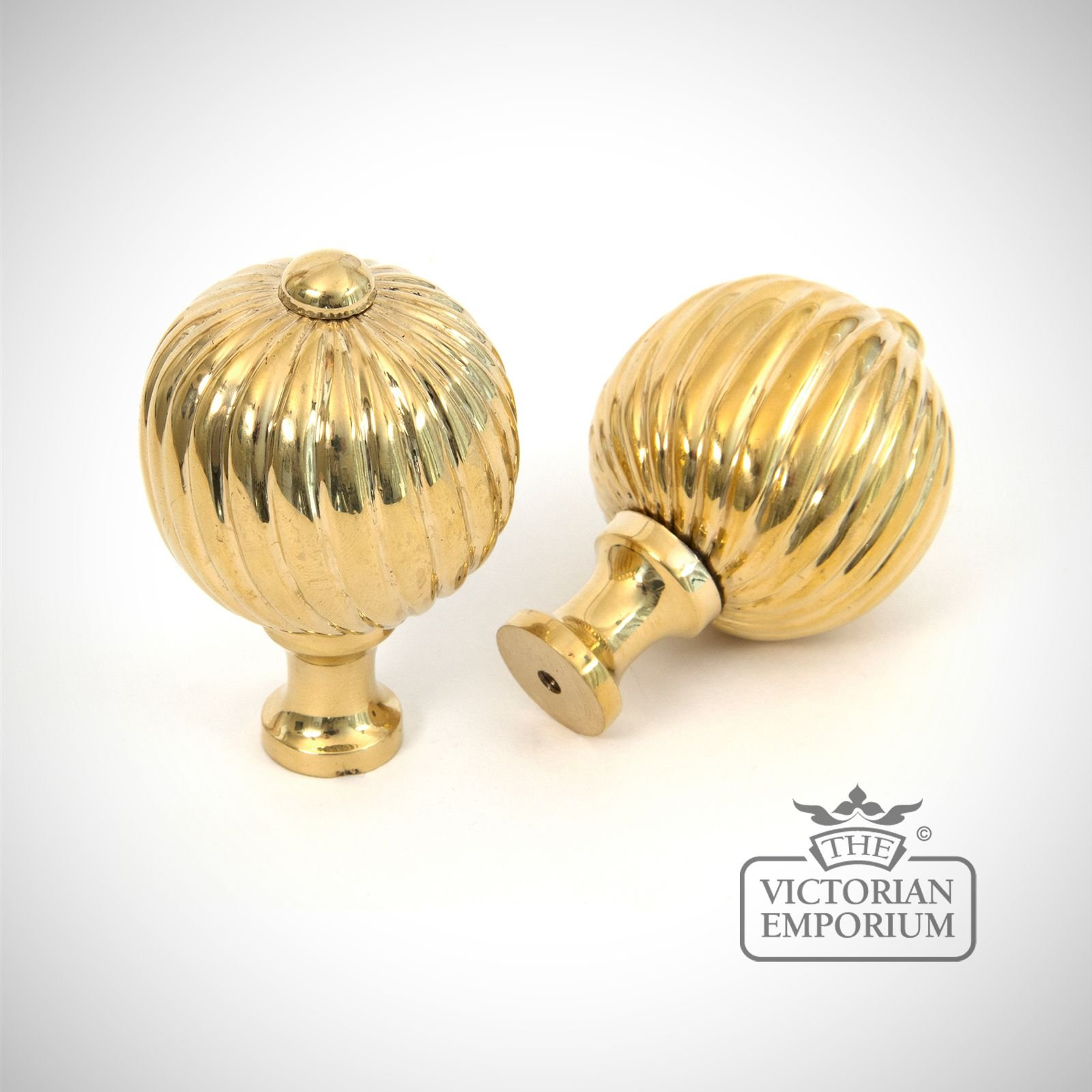 Polished Brass Spiral Cabinet Knob