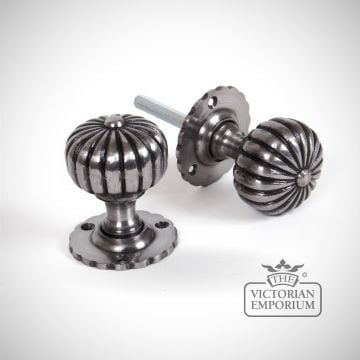 Smooth Flower Mortice Knob Set