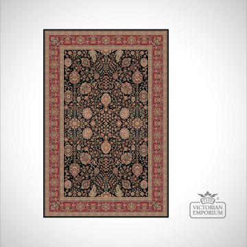 Victorian Rug - style FA5687 Black/Red