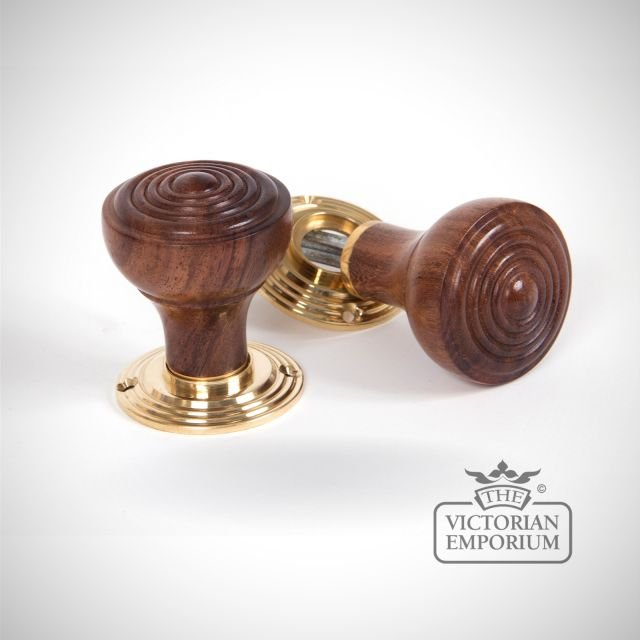 Rosewood Ringed Mortice/Rim Knob Set
