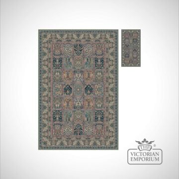 Victorian Rug - style NA1258 in Green, Rose or Red