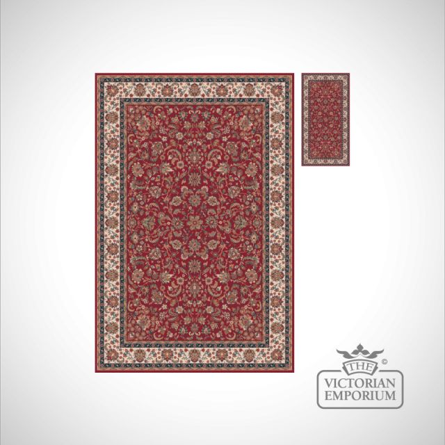 Victorian Rug - style NA1276 in Red