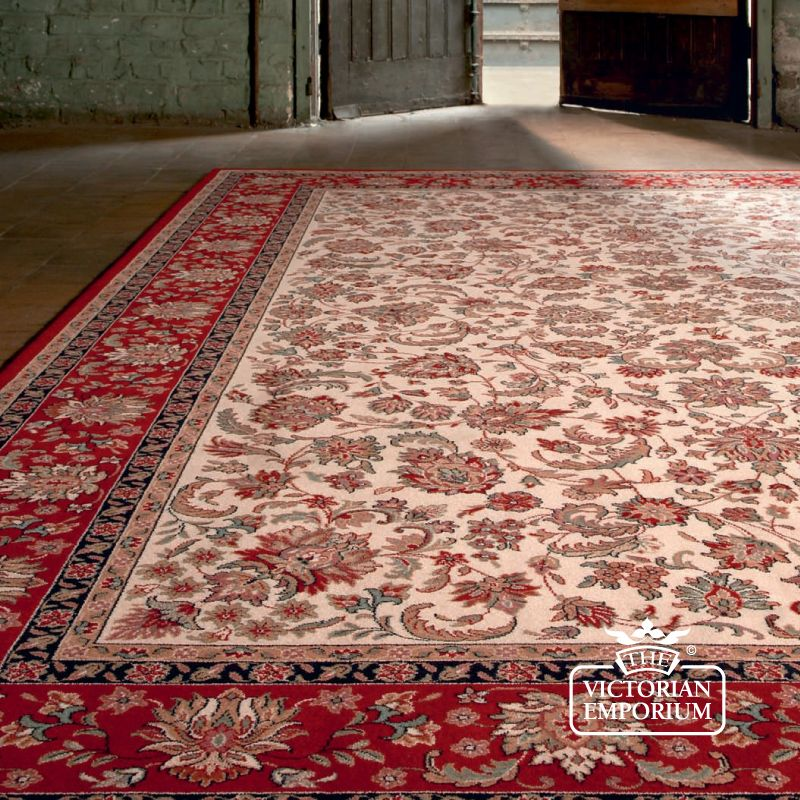Victorian Rug Style Na1276 In Red