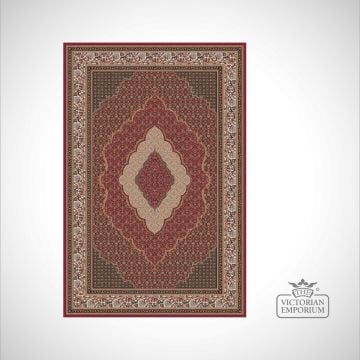 Victorian Rug - style NA1287 Red, Black or Brown