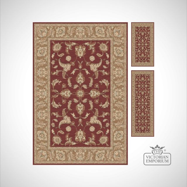 Victorian Rug - style KM4121 Red/Gold