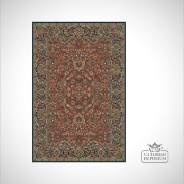 Victorian Rug - style KM4150 in Red/Navy