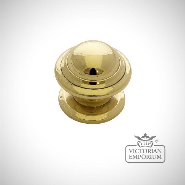 Solid brass knob