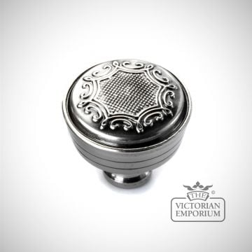 Lattice knob in Nickel Pewter