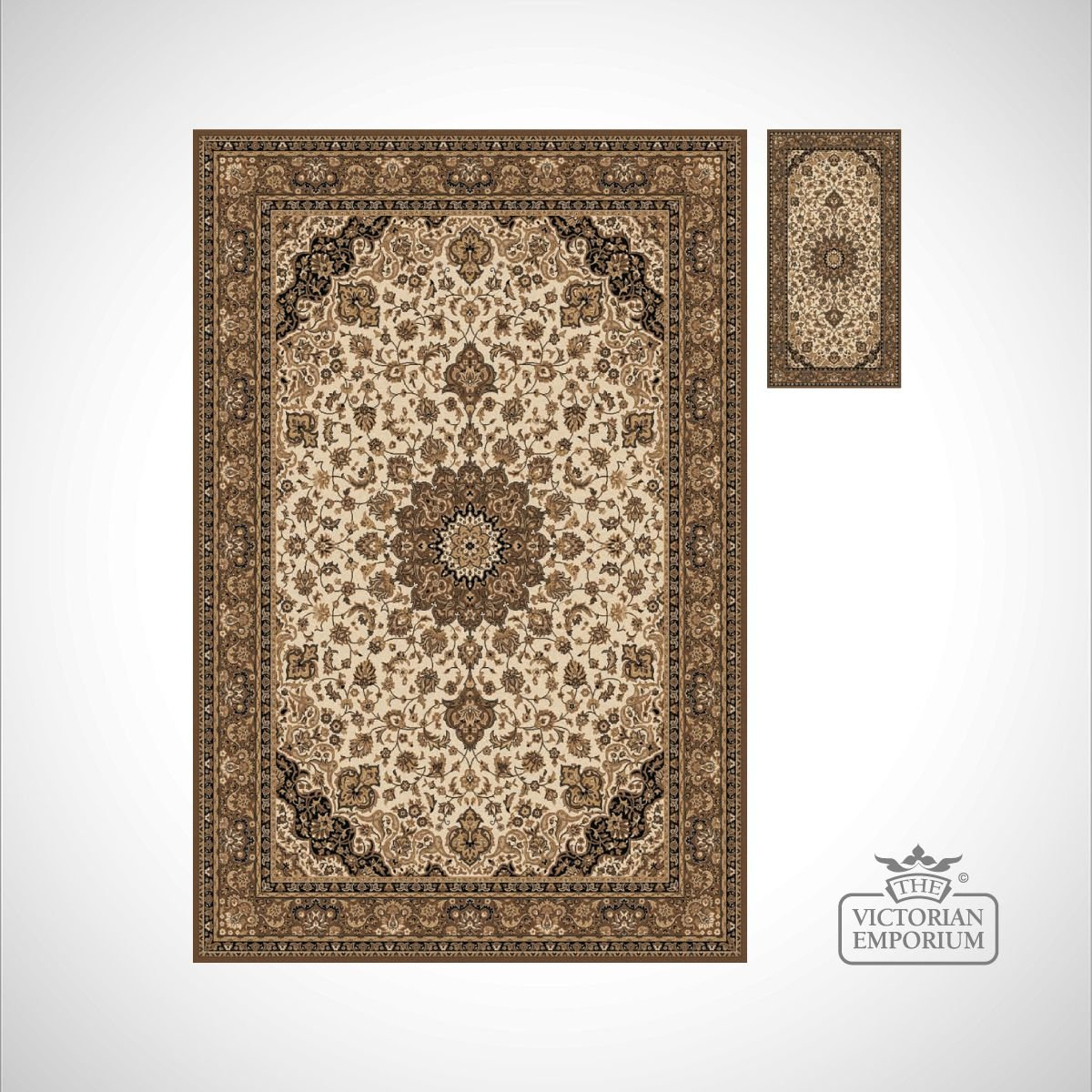 Victorian rug style ka12217 in a choice of 6 colourways for Victorian decor store