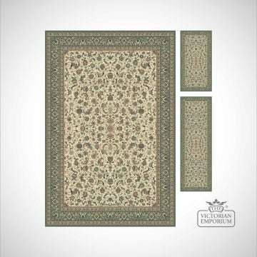 Victorian Rug - style KA12311 in Beige/Green, Beige/Rose or Red