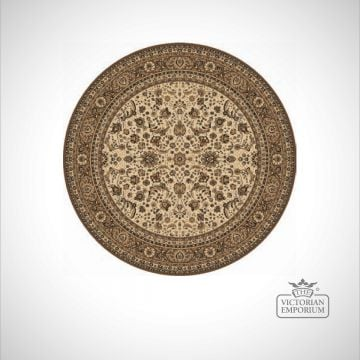Circular Victorian Rug - style KA13720 in 6 different colourways