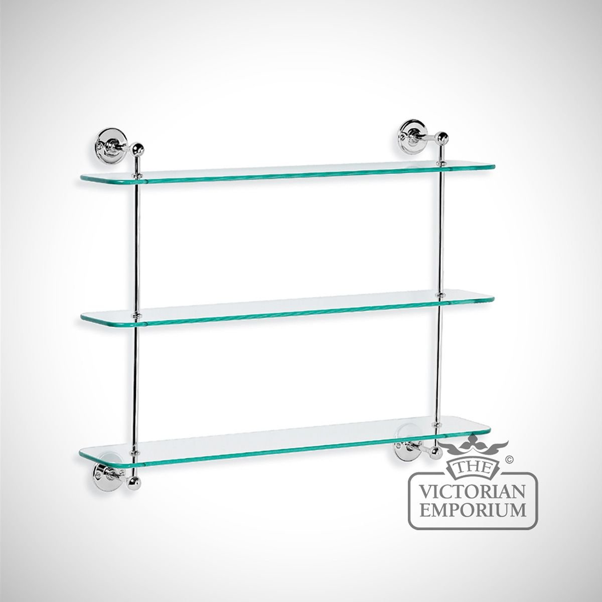 Three Tier Bathroom Stand: Three Tier Glass Shelf