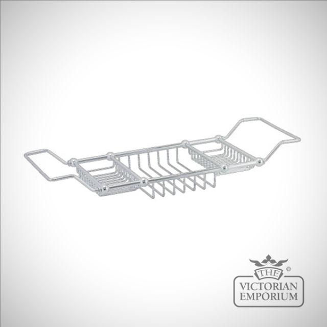 Extendable over bath rack