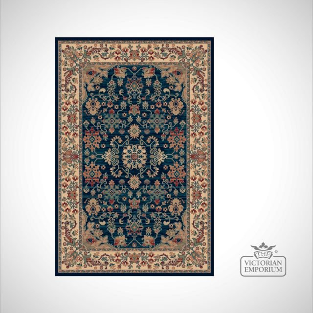 Victorian Rug - style RO1630 Navy