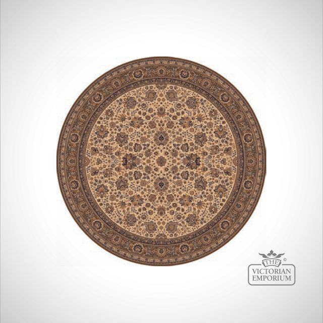 Circular Victorian Rug - style RO1570 in 5 different colourways