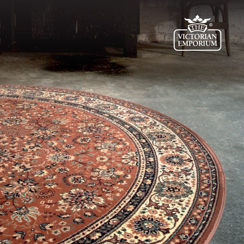 Circular Victorian Rug Style Ro1570 In 5 Diffe Colourways