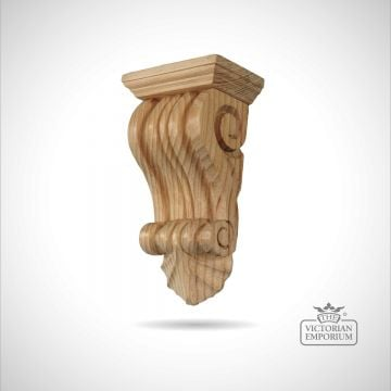Traditional reeded classical victorian corbel-pn698
